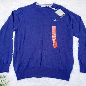 Greg Norman Natural Performance Blue vneck Sweater